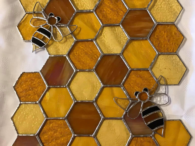 Honeycomb and Bees